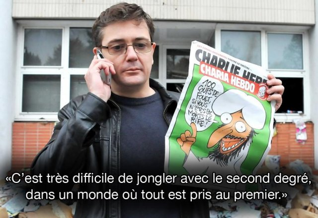 Charb, le 11 septembre 2014, sur France 24. SIPA