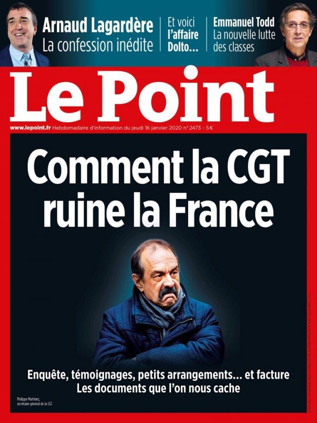Comment « Le Point » [ainsi que toute la presse bourgeoise] ruine le journalisme Communiqué de SNJ-CGT et Filpac CGT dans POLITIQUE